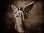 Bible Photo Posters - Angel of Death S Poster by David Dehner