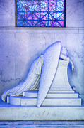 Metairie Cemetery Framed Prints - Angel of Grief New Orleans 2 Framed Print by Gregory Cox