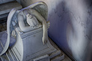 Metairie Cemetery Photos - Angel of Grief New Orleans 4 by Gregory Cox