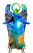 Protection Mixed Media Posters - Angel of Light - Spiritual Art Painting Poster by Sharon Cummings