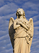 Spirituality Sculpture Metal Prints - Angel of Mercy Metal Print by Marie Sharp
