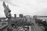 Alicegipsonphotographs Art - Angel of Old Montreal in Black and White by Alice Gipson