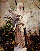 Stone Carving Prints - Angel of Old Print by Sonja Quintero