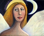 Night Angel Paintings - Angel of Peace by Amanda Taylor-Carpenter
