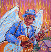 Angel Blues  Metal Prints - Angel of The Blues Metal Print by Robert Ponzio