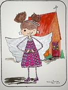 Angel Drawings - Angel Or- by Mary Kay De Jesus