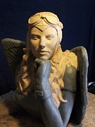 Montana Sculptures - Angel Pilot by Clay Workman