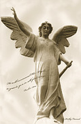 Cemetery Art Photos - Angel Religious Spiritual Inspirational Art by Kathy Fornal