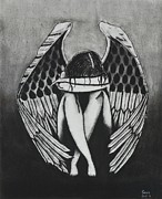 Broken Hearted Prints - Angel Print by Sean Mitchell