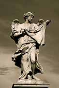 Christian Artwork Photo Metal Prints - Angel Statue Metal Print by Brian Jannsen