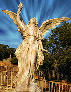 Michael Mixed Media Posters - Angel Statue Poster by Michael Knight