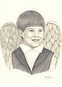 Angel Drawings - Angel Too by Patricia Hiltz