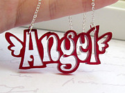 Wings Jewelry - Angel Topography Necklace by Rony Bank