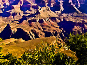 National Mixed Media Prints - ANGEL TRAIL Grand Canyon Print by Nadine and Bob Johnston