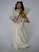 Violin Ceramics - Angel with violine by Natalia Elerdashvili