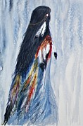 Wow Paintings - Angel Woman by Elizabeth  Webb