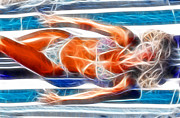 Fashion Abstraction Art - Angela Blue Bikini Fractal by Gary Gingrich Galleries
