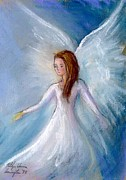 Angels Pastels Prints - Angela Print by Kathye Arrington