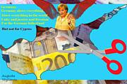 Angela Merkel - Angela Merkel Legal Robbery by Augusta Stylianou
