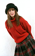 Plaid Skirt Prints - Angela Plaid Skirt Print by Gary Gingrich Galleries