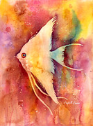 Angelfish Paintings - Angelfish II by Hailey E Herrera