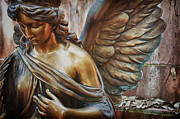 Golden Glow Framed Prints - Angelic Contemplation Framed Print by Terry Rowe