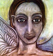 Angel Art Painting Originals - Angelic Light Being by Amy Marie Adams