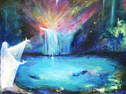 Angelic Mixed Media - Angelic Oasis by Kim Layton