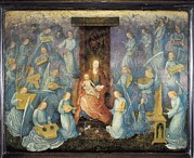 Angelical Framed Prints - Angelical Concert. 15th-16th C. Flemish Framed Print by Everett