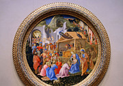Adoration Framed Prints - Angelicos Filippos The Adoration Of The Magi Framed Print by Cora Wandel