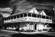 Florida House Posters - Angelina Guest House Typical Construction Wooden Large House Old Historic District Key West Florida  Poster by Joe Fox