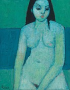 Sat Paintings - Angelina Nude by Endre Roder