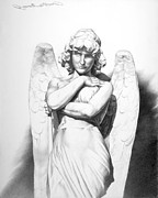 Christianity Drawings - Angelita by Paul Collins
