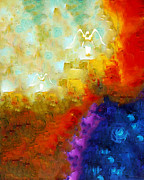 Jewish Digital Art - Angels Among Us - Emotive Spiritual Healing Art by Sharon Cummings