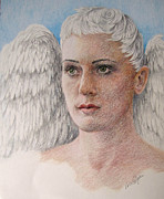 Angels Drawings Originals - Angels Among Us.... by Vera Rodgers