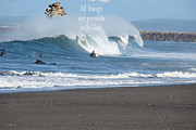Angels Watching Metal Prints - ANGELS  and Surfers Metal Print by Beverly Guilliams