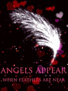 Angels Drawings - Angels Appear 2 by Karen Larter