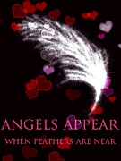 Angels Drawings - Angels Appear by Karen Larter