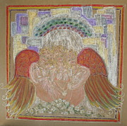 Angels At Heavens Gate Print by Lyn Blore Dufty