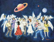 Angels Art - Angels Dancing by Linda Mears
