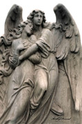 Angel Art By Kathy Fornal Photos - Angels Embracing - Angels Dreamy Romantic Angel Art - Guardian Angel Art  by Kathy Fornal