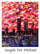 Boston Skyline Paintings - Angels For Michael Named  by Mark Moore