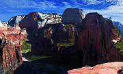 Desert Digital Art - Angels Landing at Zion by ABeautifulSky  Photography