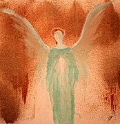 Mother Mary Digital Art Originals - Angels of Divine Light by Alma Yamazaki