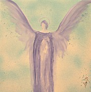 Mother Mary Digital Art Originals - Angels of Divine Light Michael by Alma Yamazaki