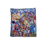Cities Tapestries - Textiles - Angels Over The City by Gwendolyn Aqui-Brooks