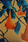 Trumpet Paintings - Angels Trumpet Song by Lynn Rattray
