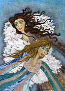 Angels Watching Metal Prints - Angels Watching Us Metal Print by Lisa Frances Judd
