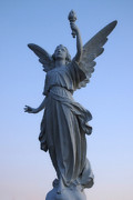 Religious Statues Prints - Angels Wings Print by Joann Vitali