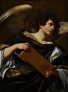 New Testament Paintings - Angels with Attributes of the Passion by Simon Vouet